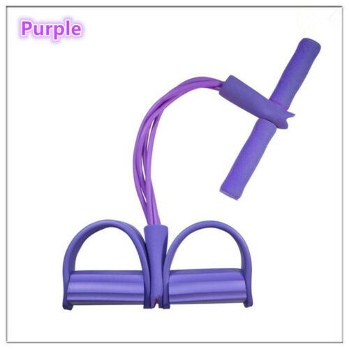 4-Tube Foot Pedal Pull Rope Resistance Exercise Sit-up Yoga Fitness Train Tool