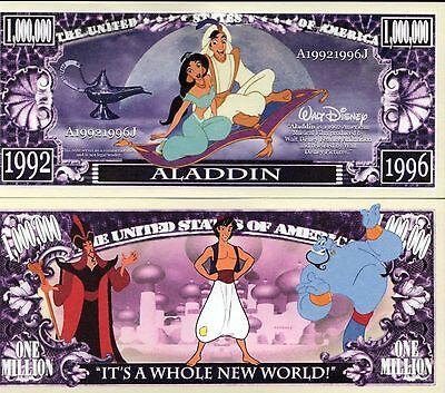 Disney Movie Characters Million Dollar Novelty Money 101 Dalmatians