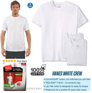 d8b7735e046 Image is loading Hanes-Men-039-s-3-Pack-Tagless-Crew-