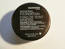 Korres  Mineral Foundation Wild Rose Natural Finish Fairly Light  Powder