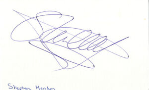 Stephen Hendry - Scottish 7 Times World Snooker Champion In Person Signed Card.