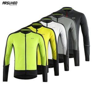 Hommes-Manche-Longue-Maillot-De-Cyclisme-Descente-VTT-Mountain-bike-shirt-Quick-Dry