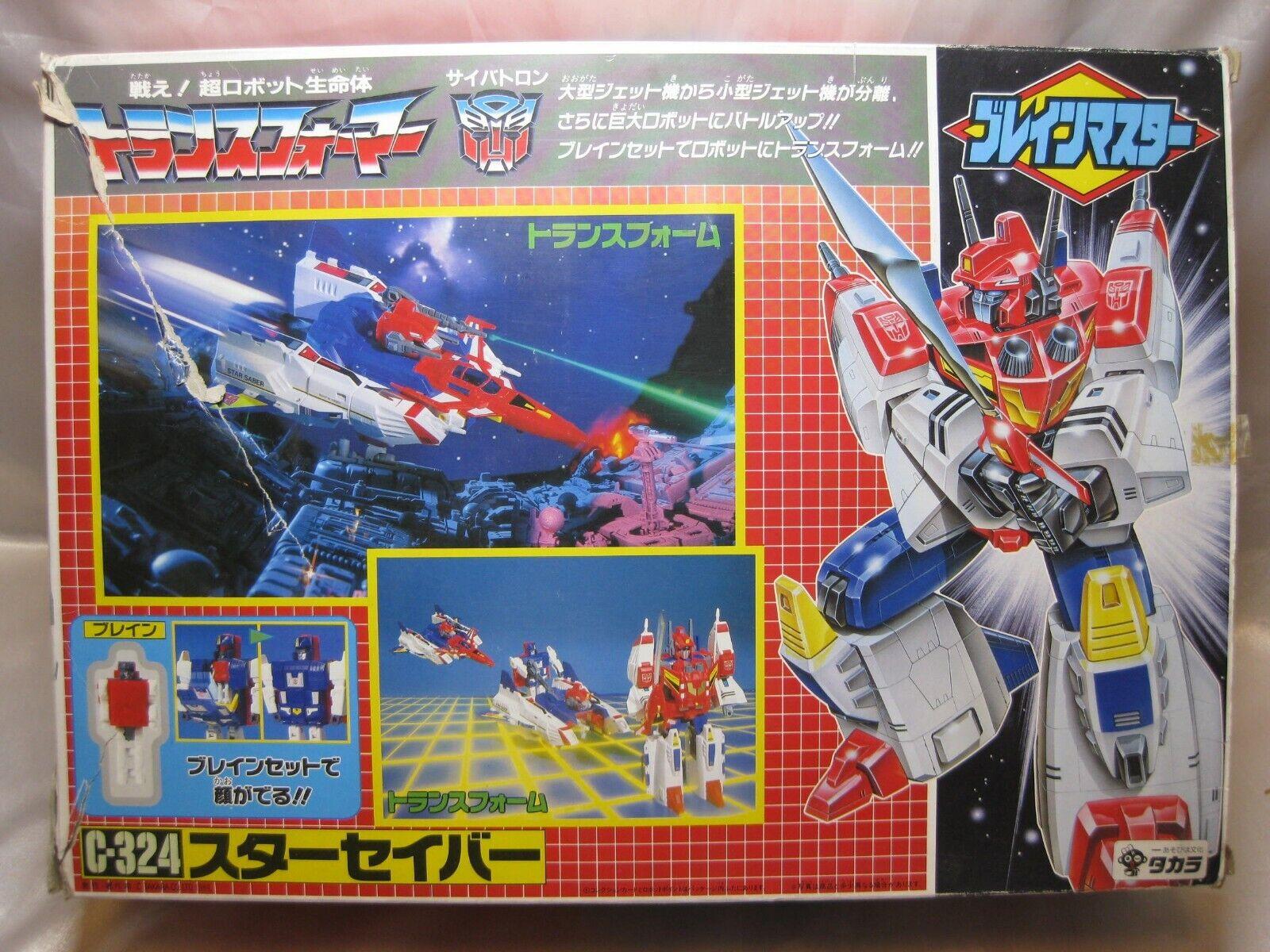 Very Rare trans formers G1 G1 G1 C-324 Star Saber initial design box 1989 Takara 41a6f3