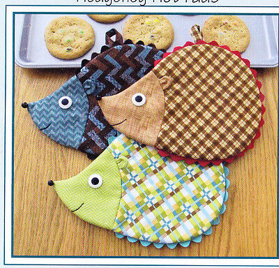 PATTERN Hedgehog Hot Pads Susie Shore Hedge Fun cute kitchen PATTERN