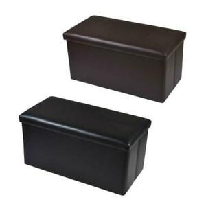Top 30 Inch Storage Bench Ottoman Chest Folding Foot Rest