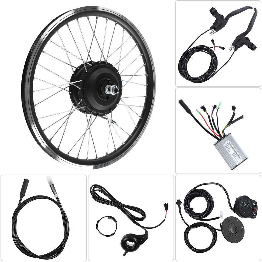 700C RUOTA ANTERIOREPOSTERIORE bicicletta elettrica motore 350W 36V48V EBike Set di conversione