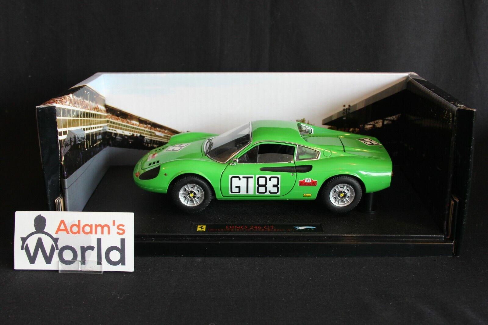 caliente ruedas Elite Ferrari Dino 246 GT 1971 1 18  GT83 1.000km Nürburgring PJBB