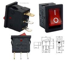Beleuchteter 12V Wippschalter: 21x15mm, EIN-AUS ON-OFF Schalter SPST rot #20B