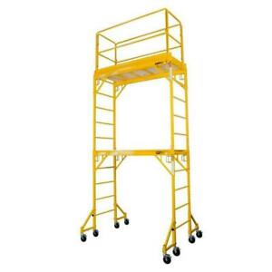 Scaffold Steel Mobile Tower 3.61 Metres With 18 Inch Outriggers