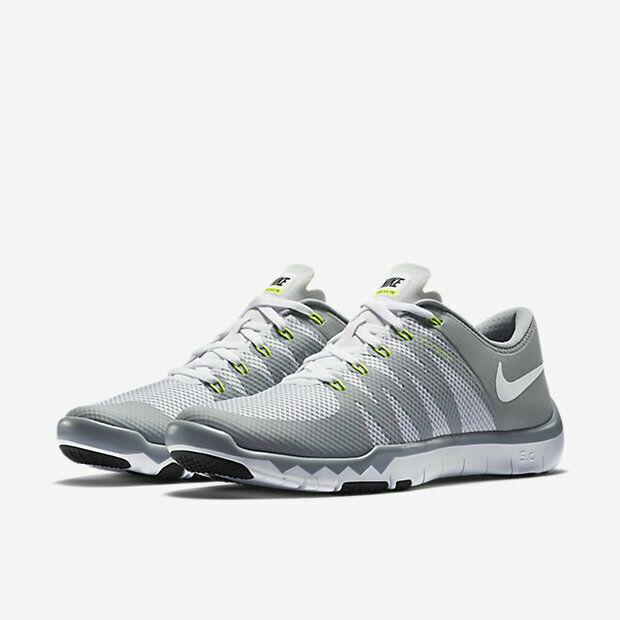 Nike Free Trainer 5.0 V6 Cross Training Shoes White Gray 719922 100 Men's NEW