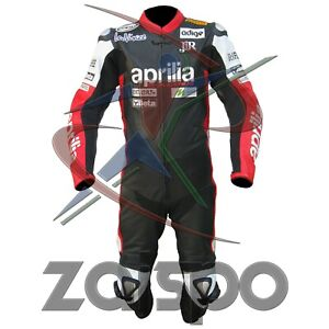 Aprilia Motorbike Racing Leather Suit Available In All Size High Quality leather