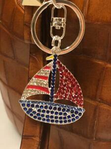 Metal Enamel USA Balloons Patriotic Key Ring// Purse jewelry// Zipper Pull
