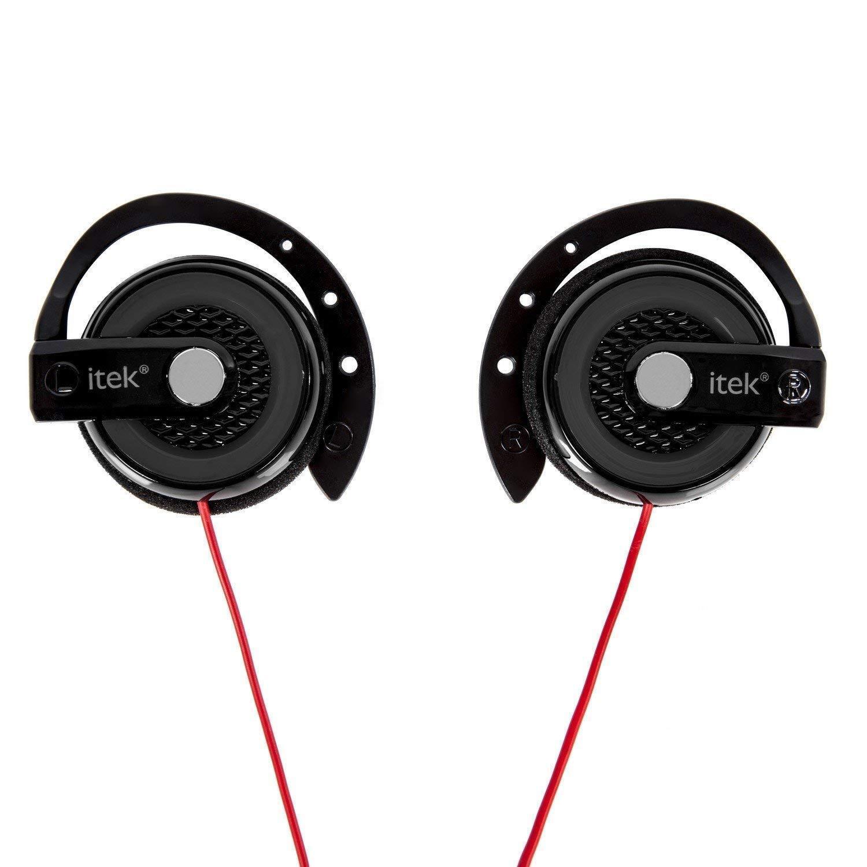255417fa0d0 iTek Earhook Stereo Mp3 Clip-on Headphones Earphones Phone Mp4 ...