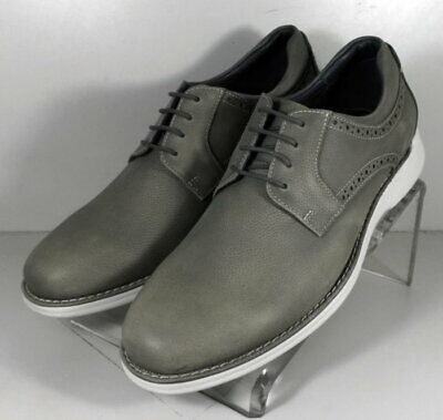 27NP11121910 SP50 Men's Shoes Size 9 M Gray Leather Lace Up Johnston & Murphy | eBay