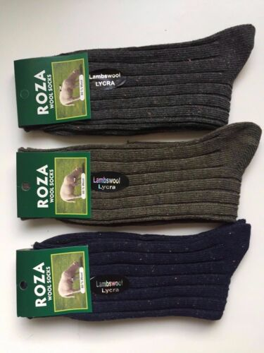 6 pairs MAN/'S HIGH QUALITY CHUNKY THERMAL WOOL SOCKS HIKE BOOT SIZE 6-11 BNHKM
