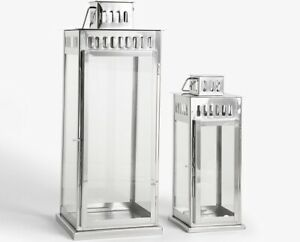 John-Lewis-Richmond-Set-of-2-Stainless-Steel-Lantern-Candle-Holders-Silver-A