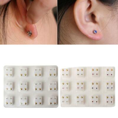 5mm Birthstones 14K Rose Gold Cartilage Helix Stud Earring
