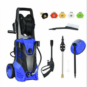 3000PSI Electric High Pressure Washer 2000W 2GPM w/Patio Cleaner and 5 Nozzles