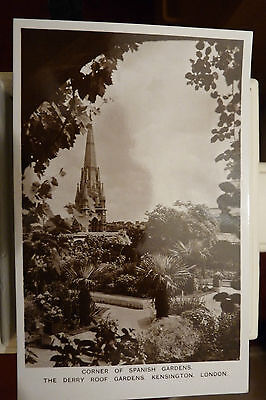VINTAGE POST CARD - DERRY & TOMS ROOF GARDEN PHOTOS - LONDON - ORIGINAL LOOK!!
