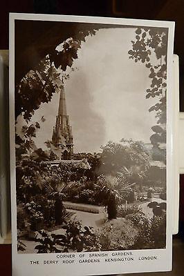 VINTAGE POST CARD - DERRY & TOMS ROOF GARDEN PHOTOS - LONDON - ORIGINAL LOOK!!