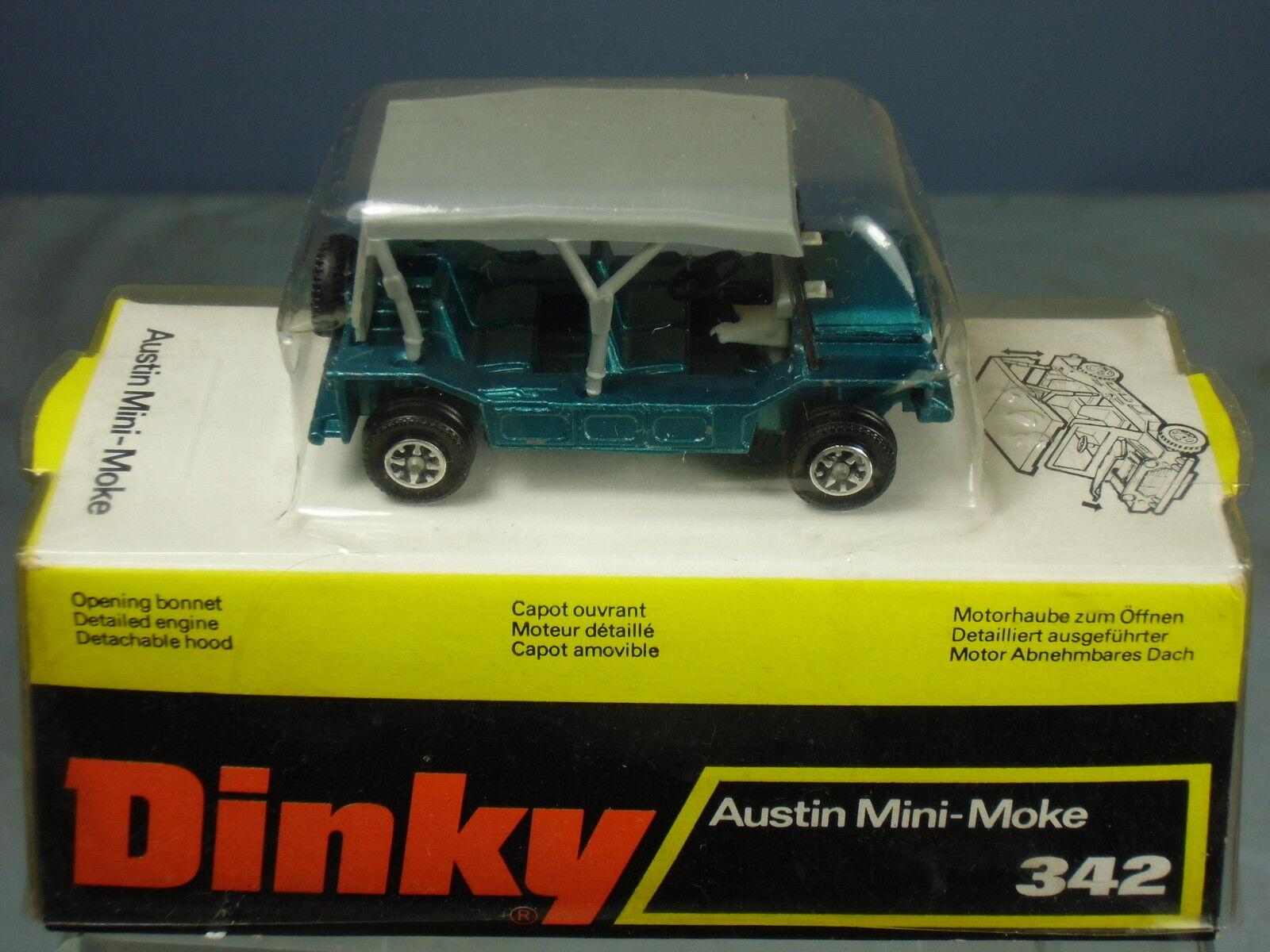 DINKY TOYS TOYS TOYS No.342 AUSTIN MINI MOKE  VN  MIB  RARE BOX  abe540