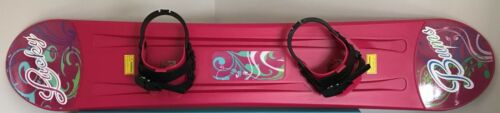 """New /""""Lucky Bums/"""" Kids Pink Plastic Snowboard Size 120 cm"""