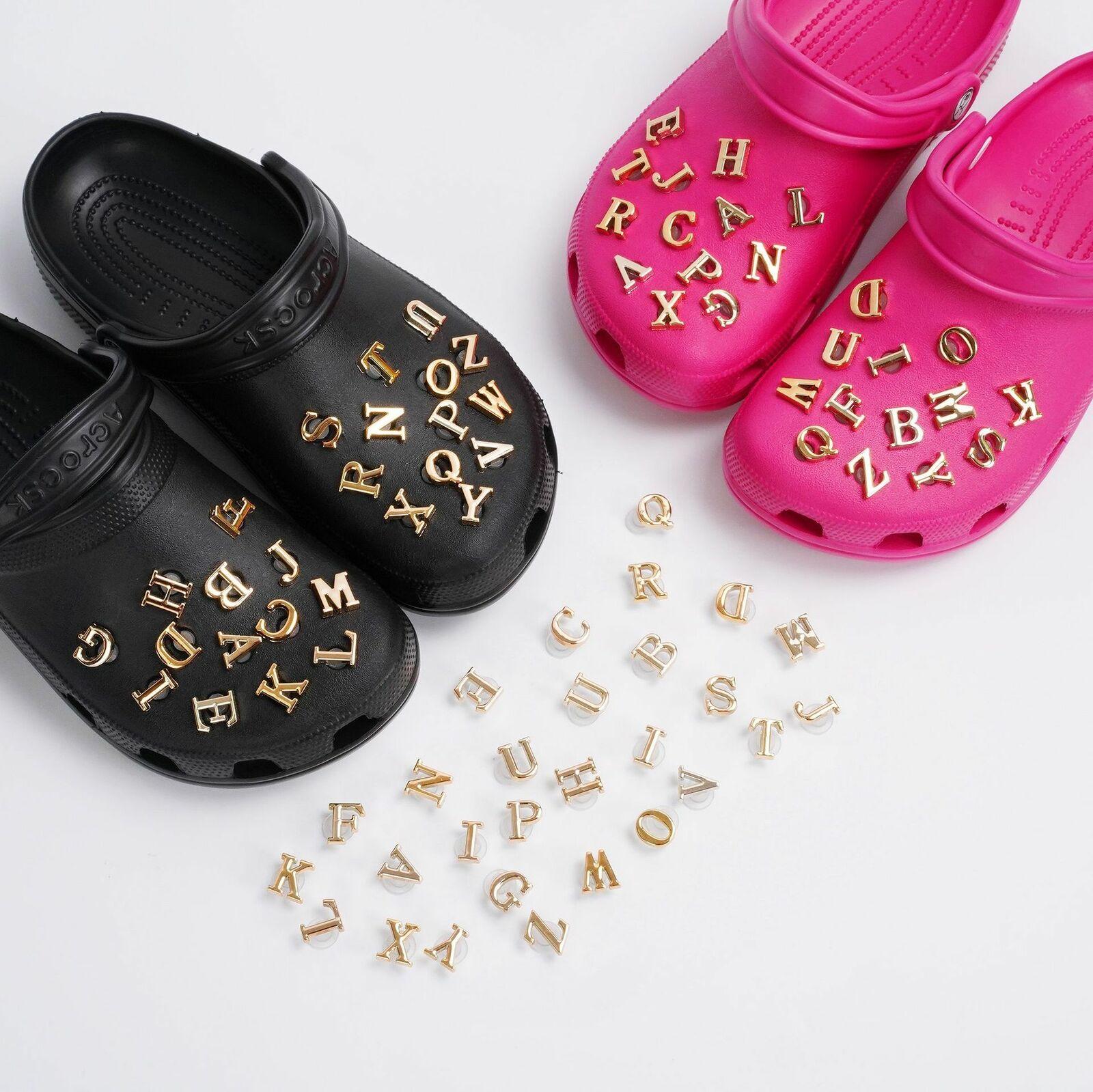 Shoe Charms for Crocs Accessories Lot 26 Letters Women Shoes Decoration Designer