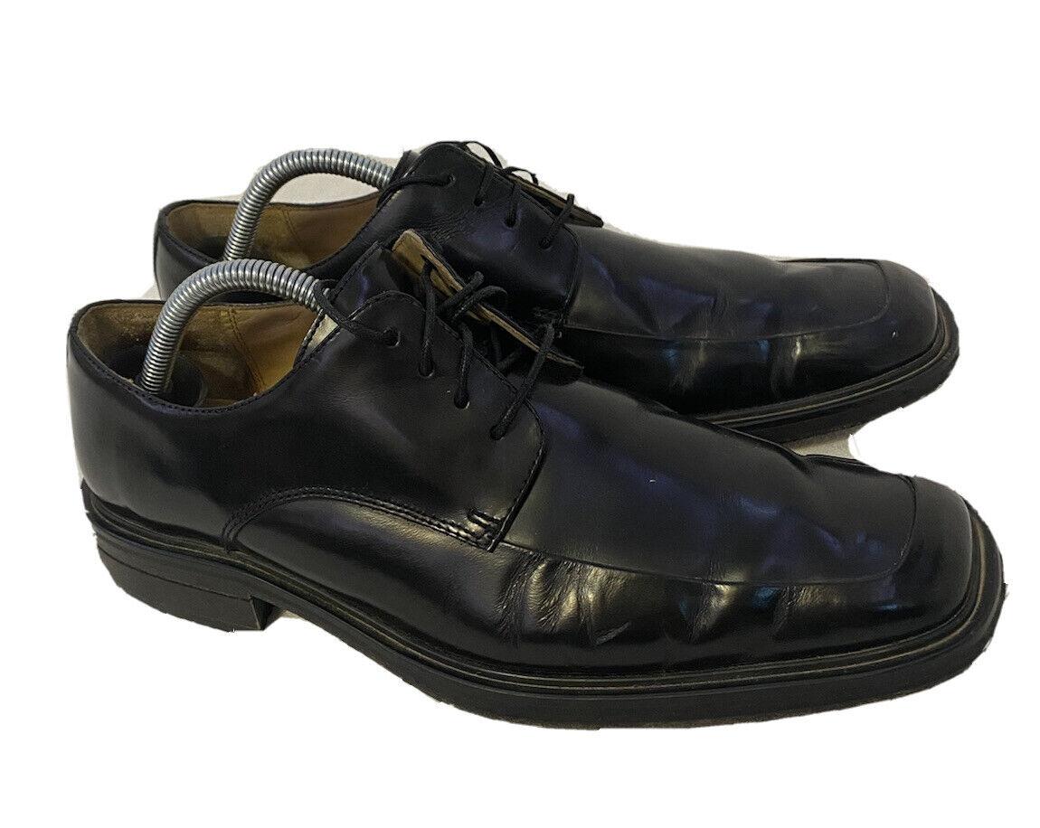 Kenneth Cole Reaction Size 8.5 M Men's Black Genuine Leather Derby Dress Shoe