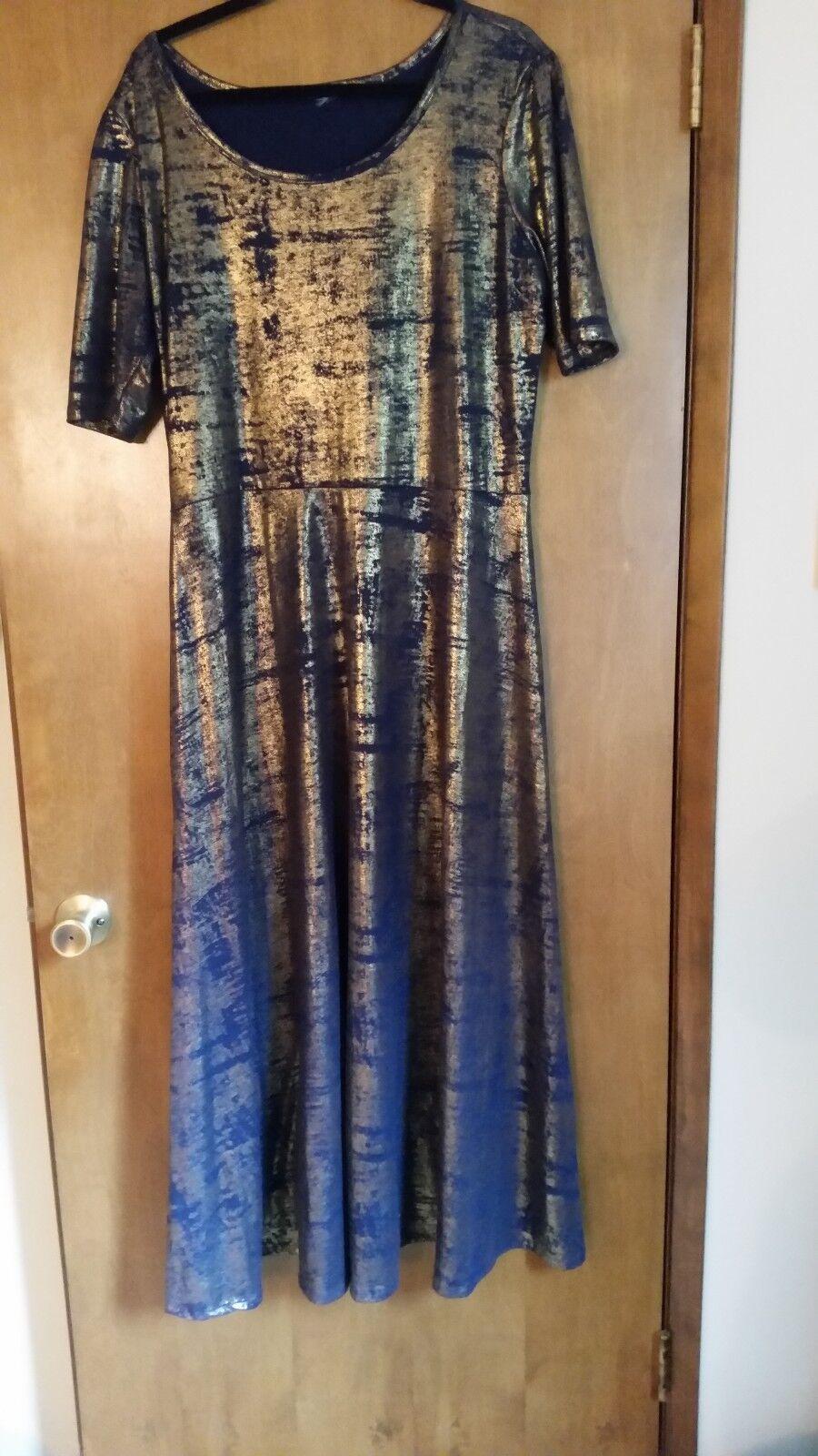 Elegant Elegant Elegant ana lula roe bluee and gold 71c071