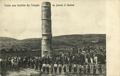 Greece Samos Visit To The Excavations Of The Temple Of Juno 1910s Postcard Ebay