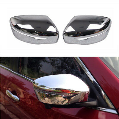 Made in Black Side Door Cap Parts Premium ABS Plastic YCGLX 1 Pair Car Rearview Wing Mirror Cover for Nissan Qashqai J11 2014-2019 Rogue Sport