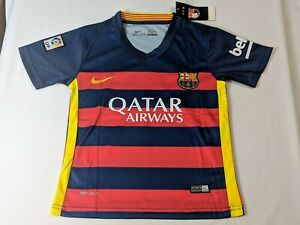 0bc828061 Nike Messi 10 Barcelona Home stadium Jersey 2015-16 Boys NWT NEW ...