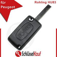Peugeot Citroen 2 Tasten Autoschlüssel Gehäuse Funk Fernbedienung Rohling HU83