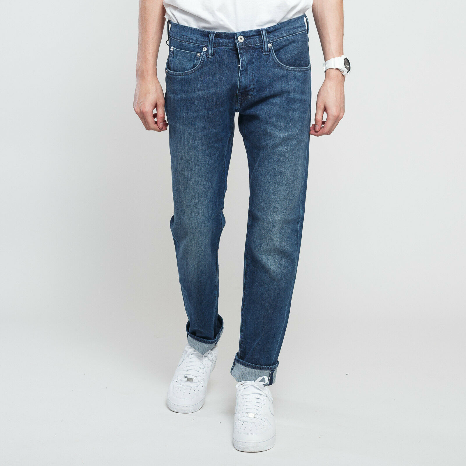 EDWIN ED-55 Regular Tapered CS Red Listed bluee mission wash 36 34, Marine