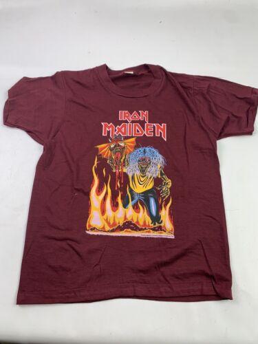 Vintage 80s Iron Maiden T-Shirt Eddie Single Stitc