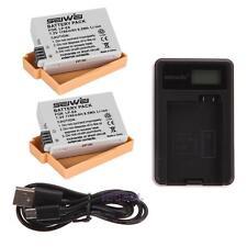 2x 1180mAh Battery + USB Battery Charger For Canon LP-E8 EOS 700D 650D 600D 550D