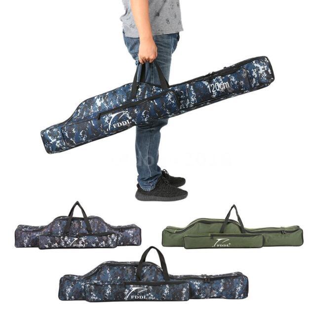 Waterproof Fishing Pole Bag Rod Bag Reel Carrier Holder Shoulder Case Box N8K2