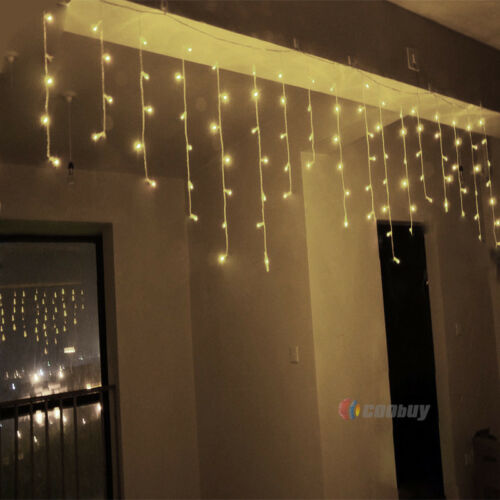 5M 216 LED Icicle String Fairy Curtain Lights Wedding Party Xmas Decoration Lamp