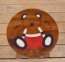 Kinder Hocker Stuhl, Kinderhocker, Sitzgruppe, Holz, Kinderstuhl, Bär