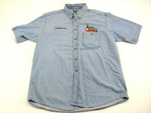 TODD-BODINE-Vintage-team-Tabasco-racing-short-sleeve-button-front-denim-shirt-B