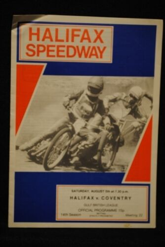 SPEEDWAY Halifax vs Coventry 5 Aug 1978