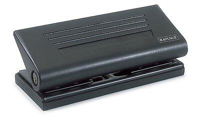 Rapesco 6 Hole Diary 66-P Adjustable Punch, 8 Sheet Capacity, Black (PF66P0B1)