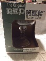 The Original Red Nek Martini Glass Get Dirty Redneck Style 8 Oz Mason Jar