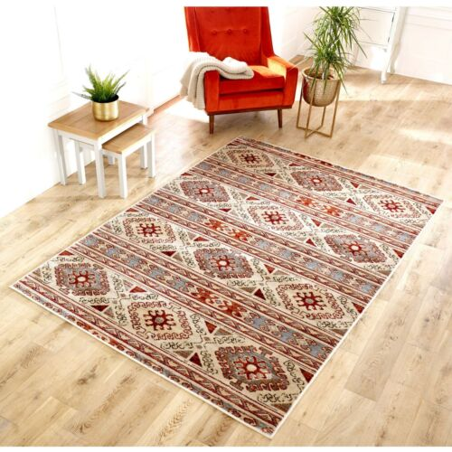 Valeria 630W Cream Multi Traditional Style Soft  Rug various sizes and runner