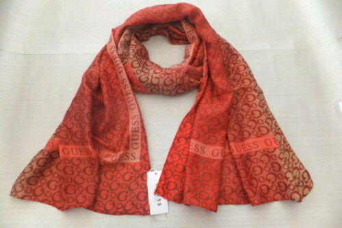 Guess Ladies Elegant Logo Nissana Scarf Hijab New With Gift Bag Made In ITALY