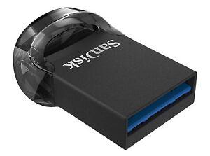 SanDisk 128GB SDCZ430-128G Ultra Fit USB 3.0 Nano Flash Pen Drive 130MB//s