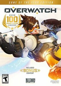 Overwatch Game of the Year Edition + BONUS PC Jewel Case Brand New Free Shipping