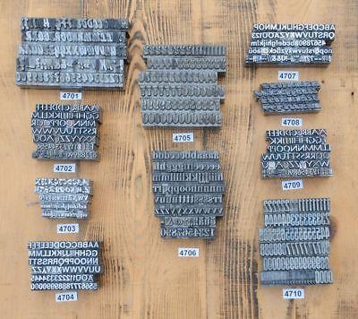 1 Set zur Auswahl Bleischrift. Bleisatz Letter Lettern Buchstaben Bleilettern
