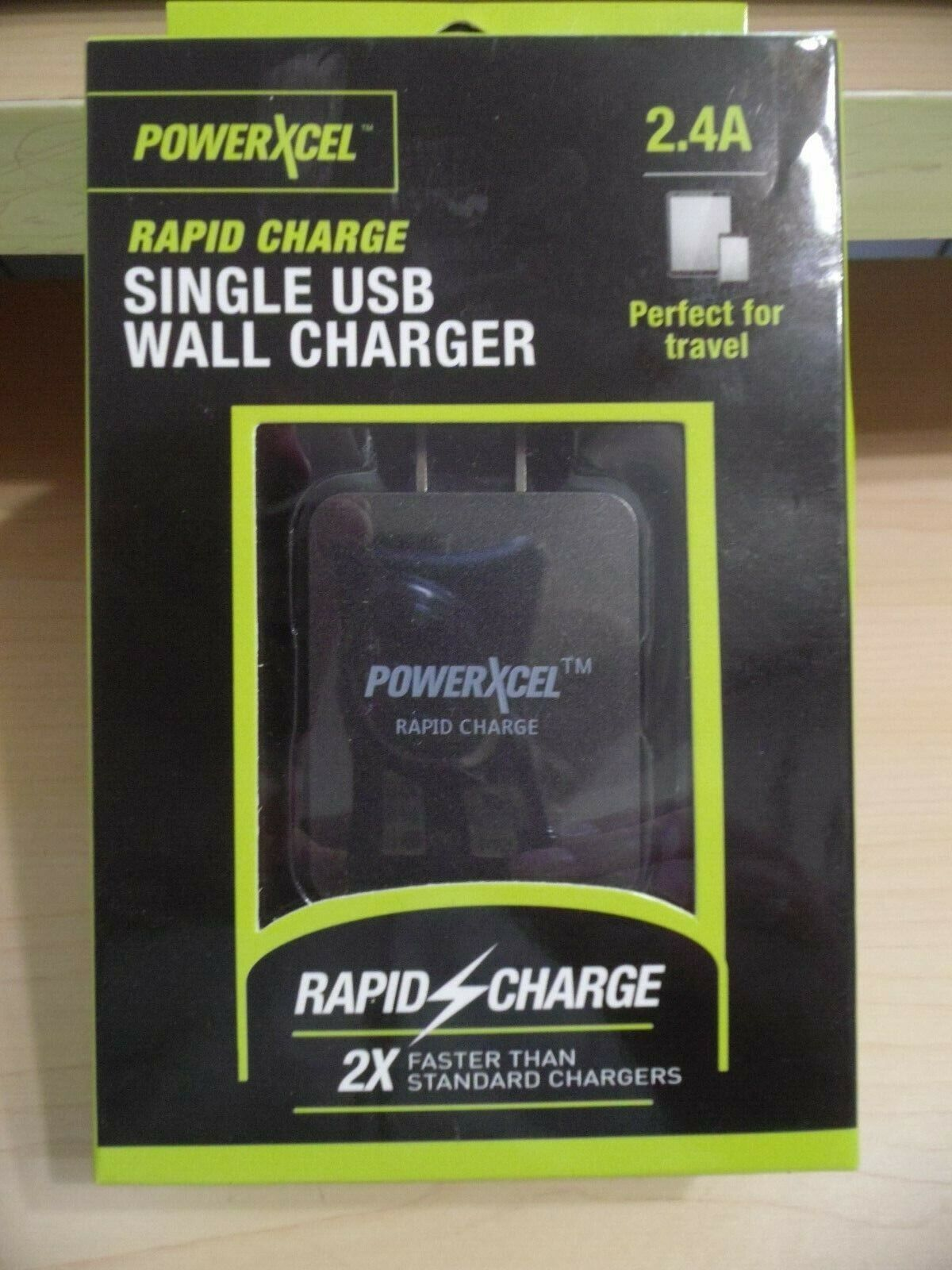 POWERXCEL Rapid Charge Single USB Car Charger Charcoal