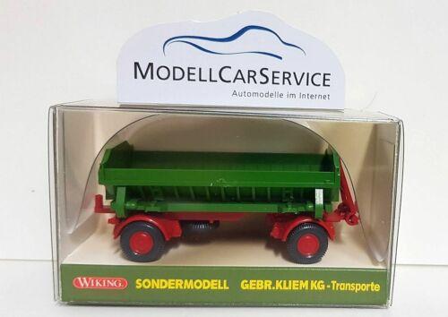"Muldenkipp-Anhänger /""Gebr.Kliem/"" Wiking Sondermodell 1//87"